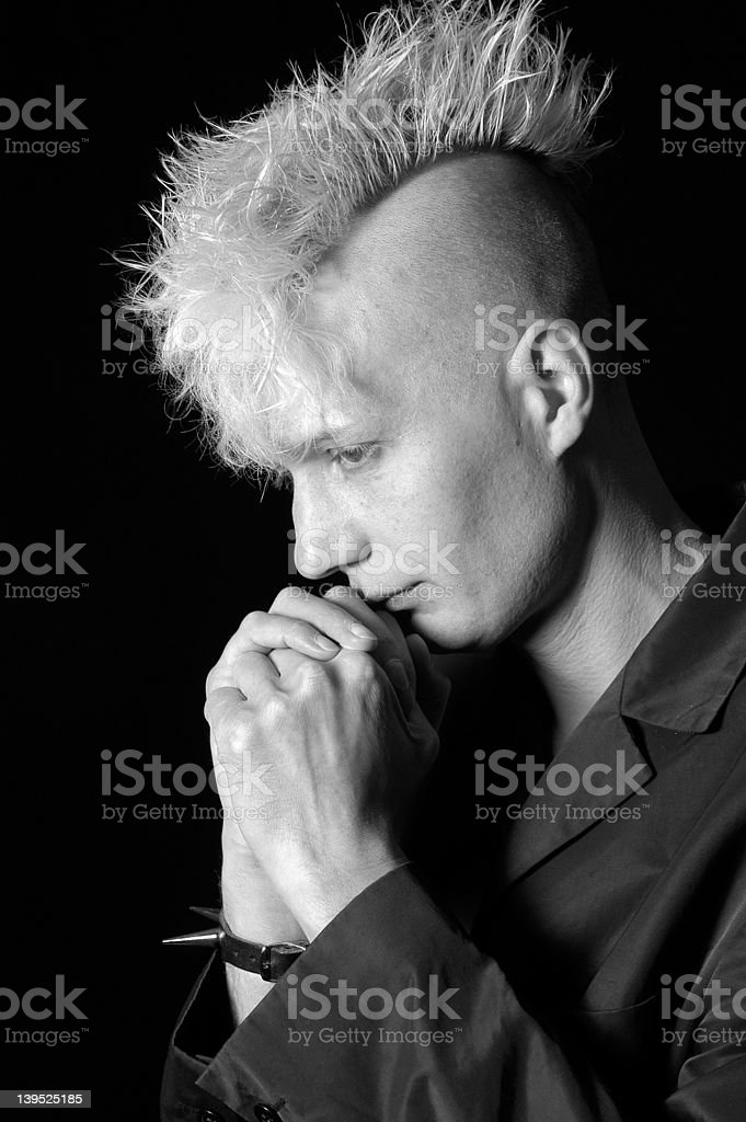 lost in thoughts III stock photo