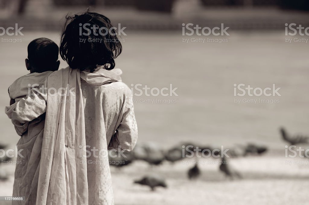 A lost in time concept image of two children royalty-free stock photo