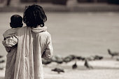 istock A lost in time concept image of two children 172766655