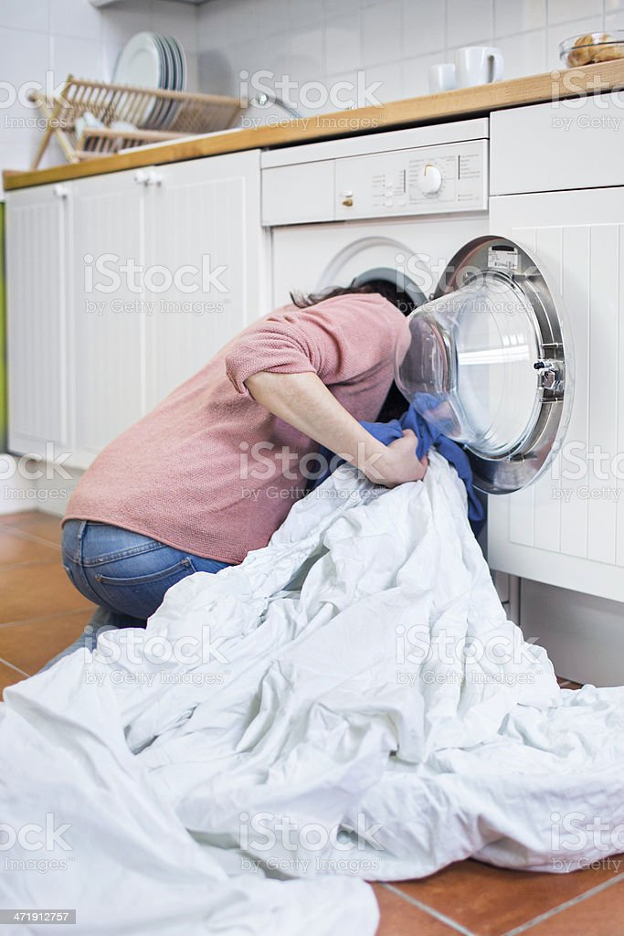Lost inside the washing machine royalty-free stock photo