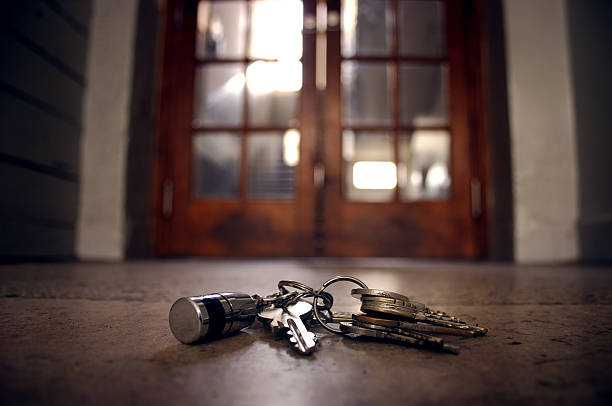 lost keys stock photo