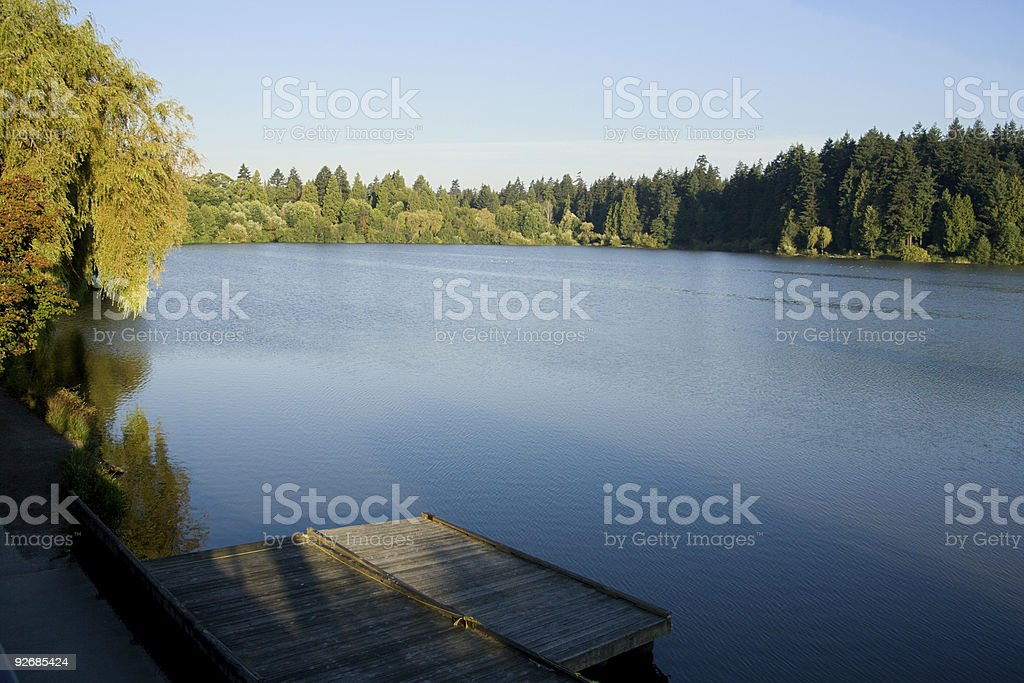 lost lagoon at stanley park vancouver royalty-free stock photo