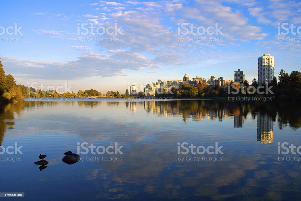 Lost Lagoon, Stanley Park, Vancouver royalty-free stock photo