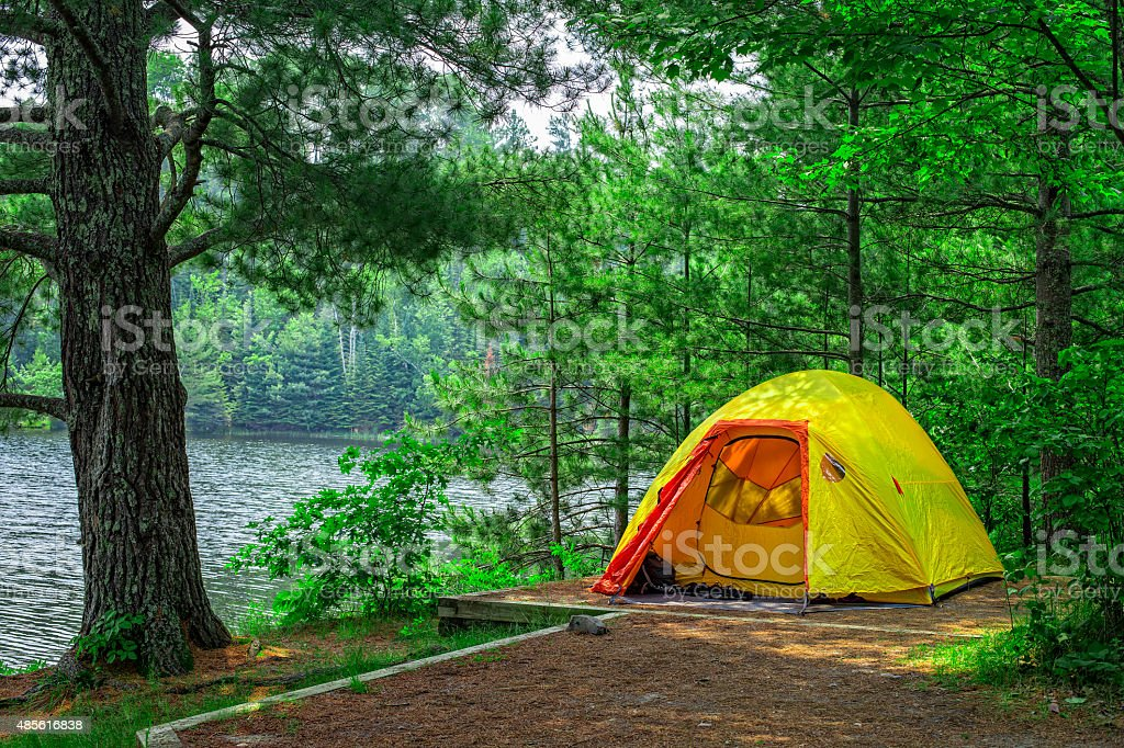 Lost Lake campsite, Voyageurs National Park, Minnesota, USA. stock photo