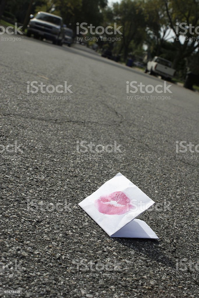 Lost love letter royalty-free stock photo