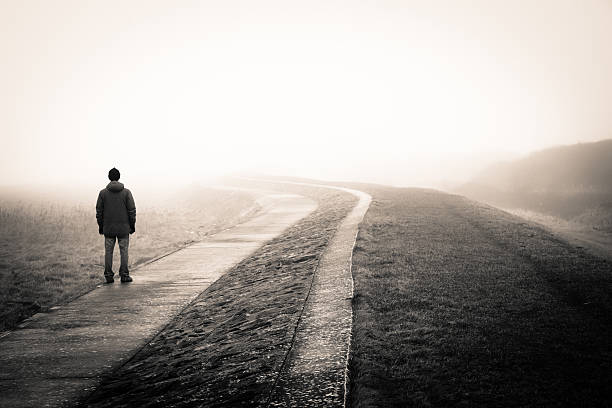 lost man - vanishing point stock pictures, royalty-free photos & images