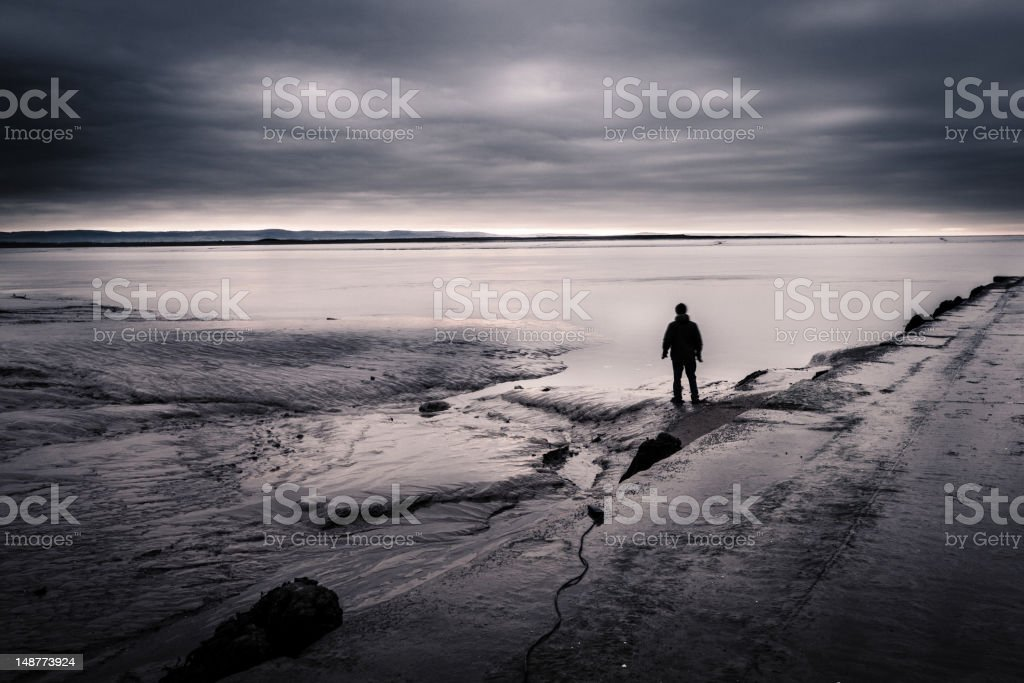 Lost man royalty-free stock photo