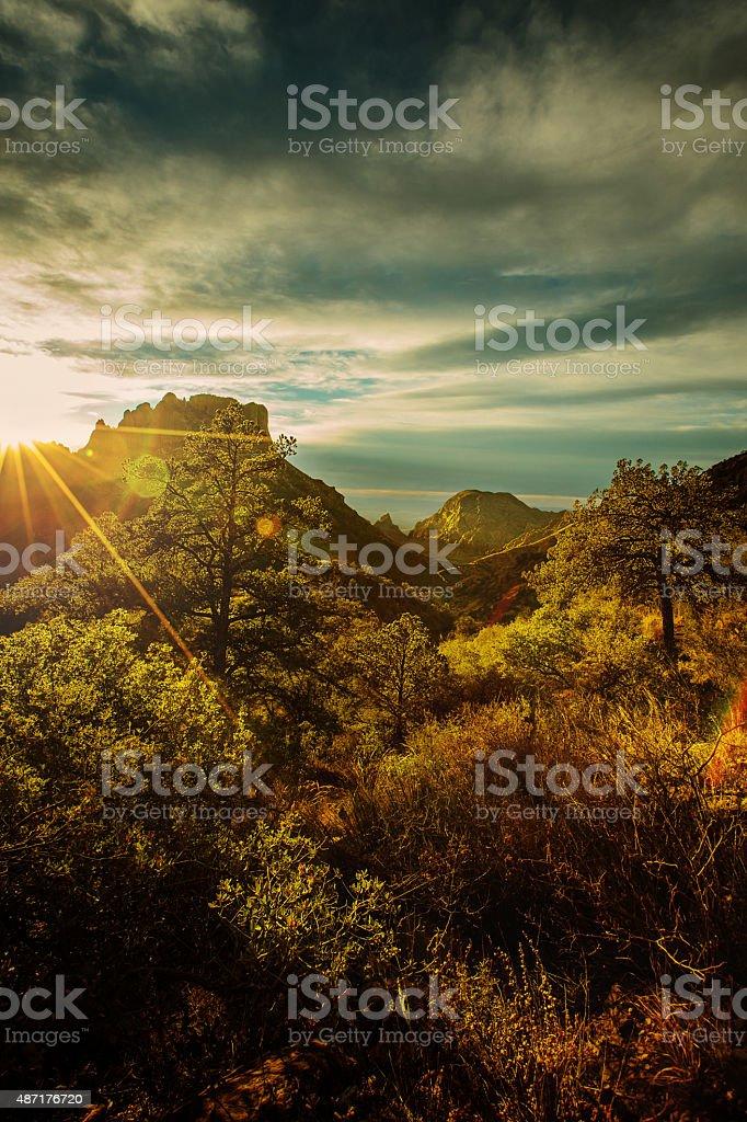 Lost Mine Trail, Big Bend TX stock photo
