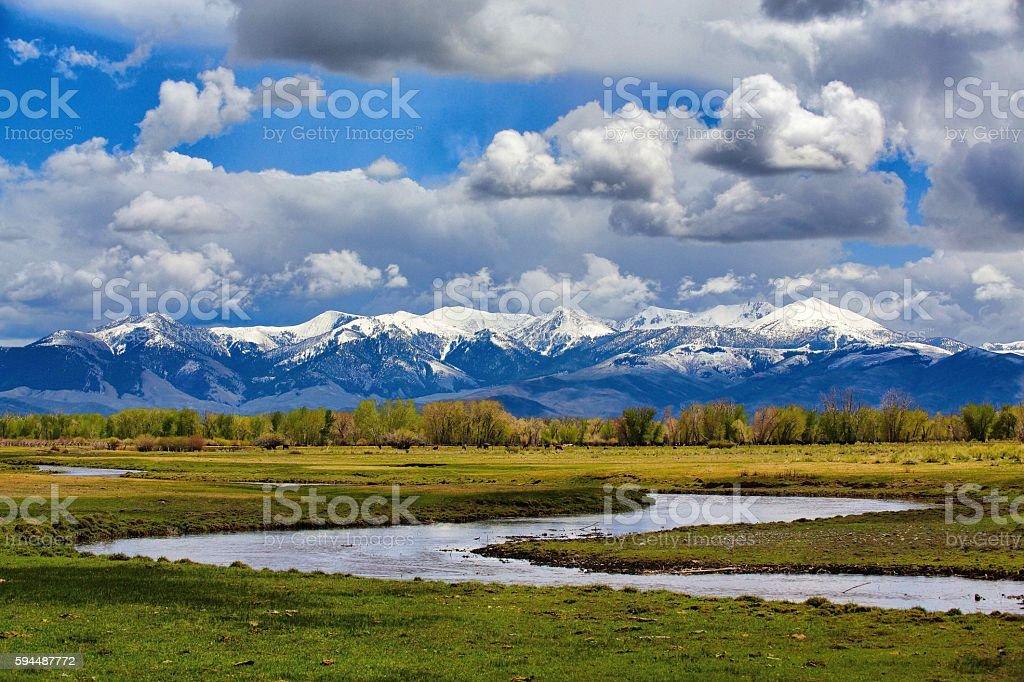 Lost River Valley & White Knob Mountains, Idaho stock photo