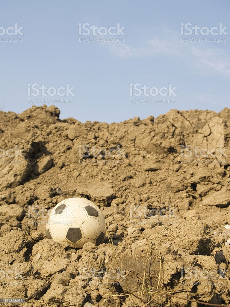 Lost Soccer Ball royalty-free stock photo