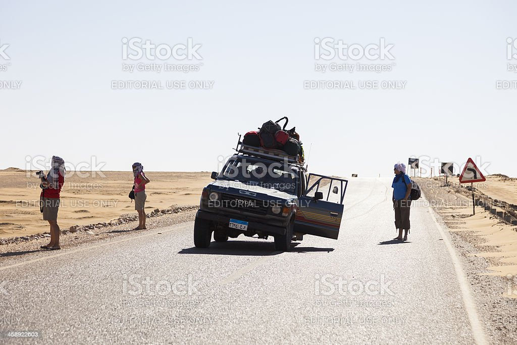 Lost tire royalty-free stock photo