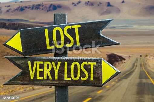 istock Lost - Very Lost sign 687810196