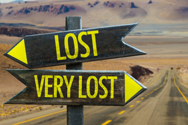 lost - very lost sign - lost stock photos and pictures