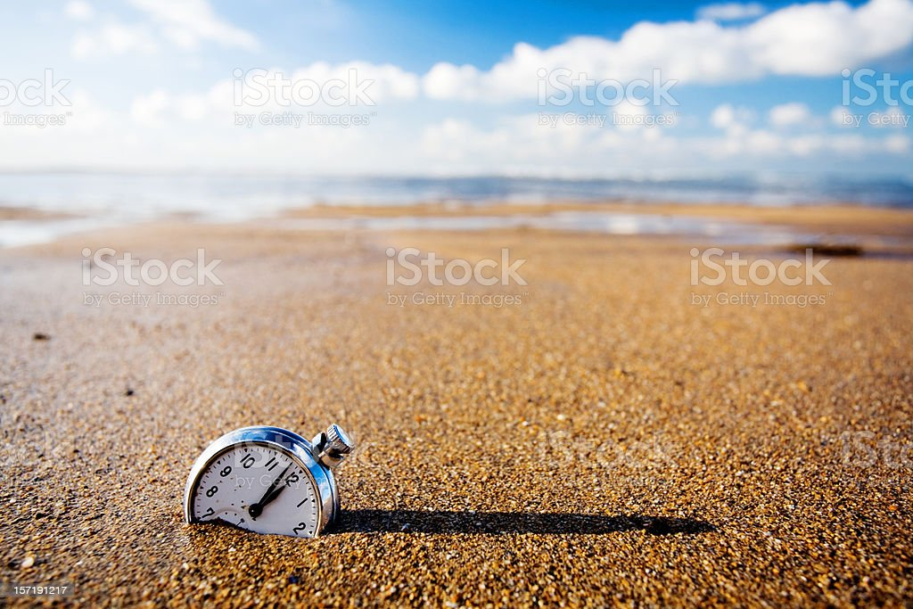 Lost watch stock photo