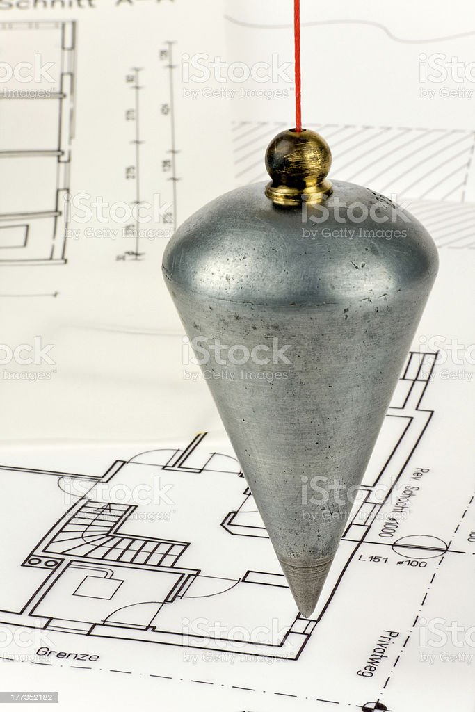 Lot and blueprint stock photo