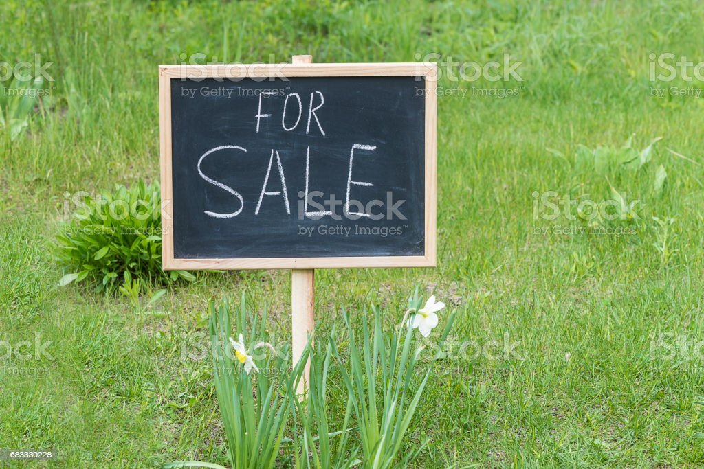 lot for sale concept zbiór zdjęć royalty-free