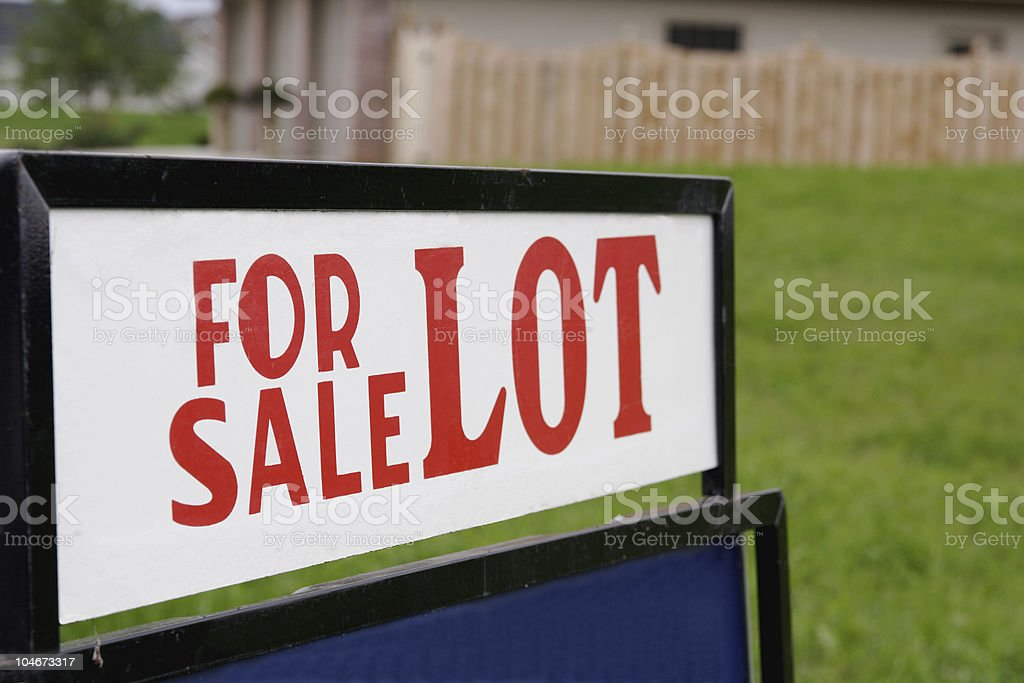 Lot For Sale Sign royalty-free stock photo