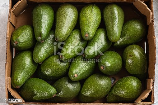 A lot of avocado close up. Healthy and tasty food. Exotic fruit
