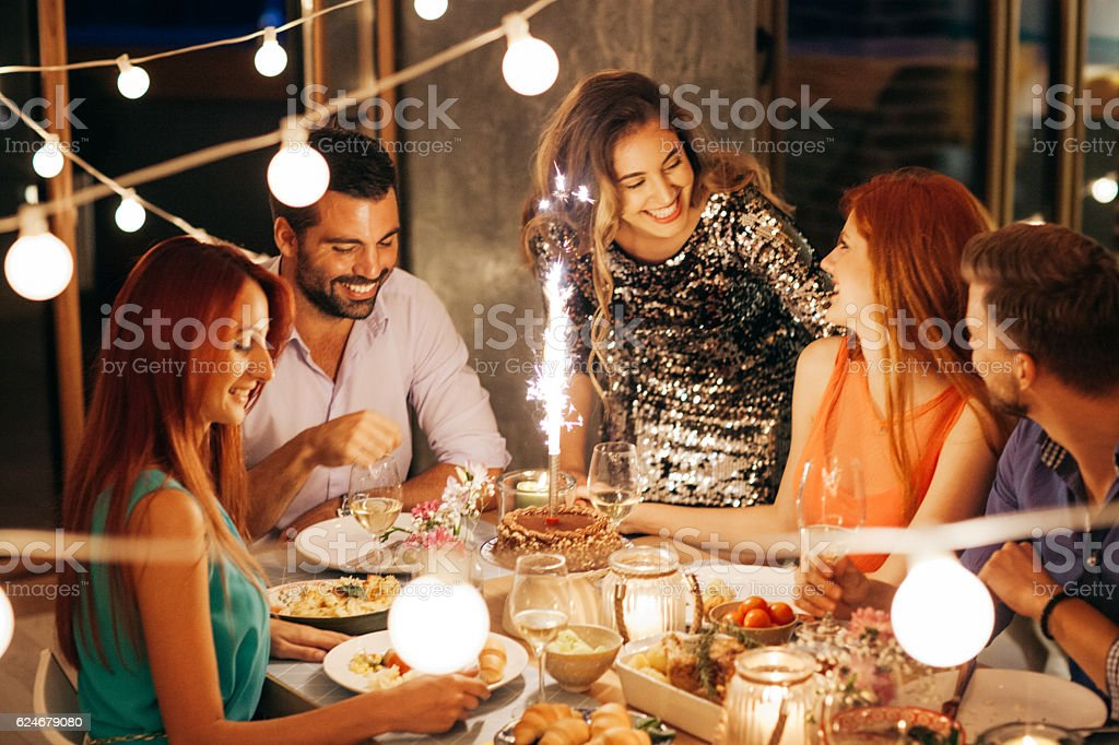 Lot of birthday wishes stock photo