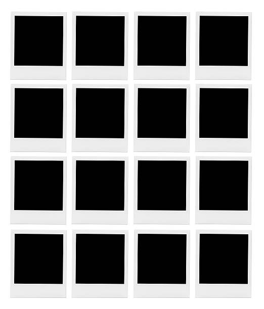 Viele leere Fotorahmen. – Foto