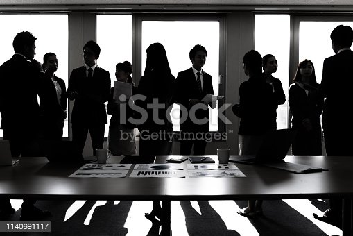 istock A lot of businessperson in office. Business group. Corporate business. 1140691117