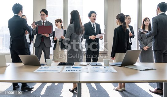 istock A lot of businessperson in office. Business group. Corporate business. 1140961190