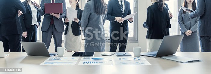 istock A lot of businessperson in office. Group of business. Corporate business. 1140691110