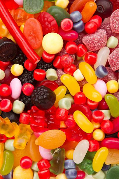 Menge an Süßigkeiten für einen Hintergrund – Foto