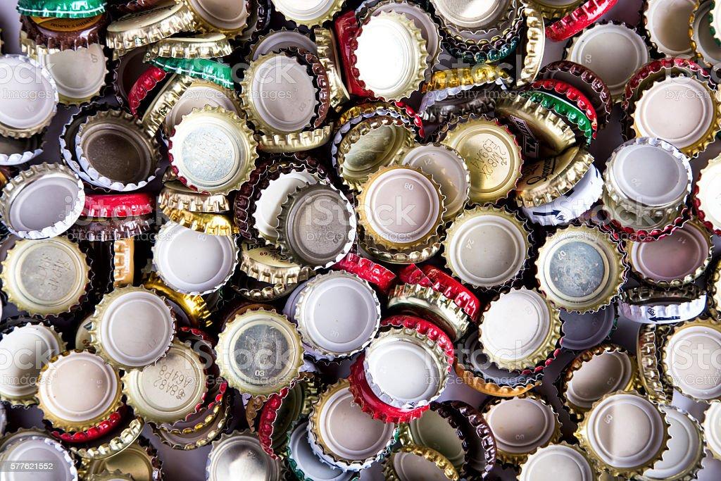 Viele kappen Bier, Aufsicht – Foto