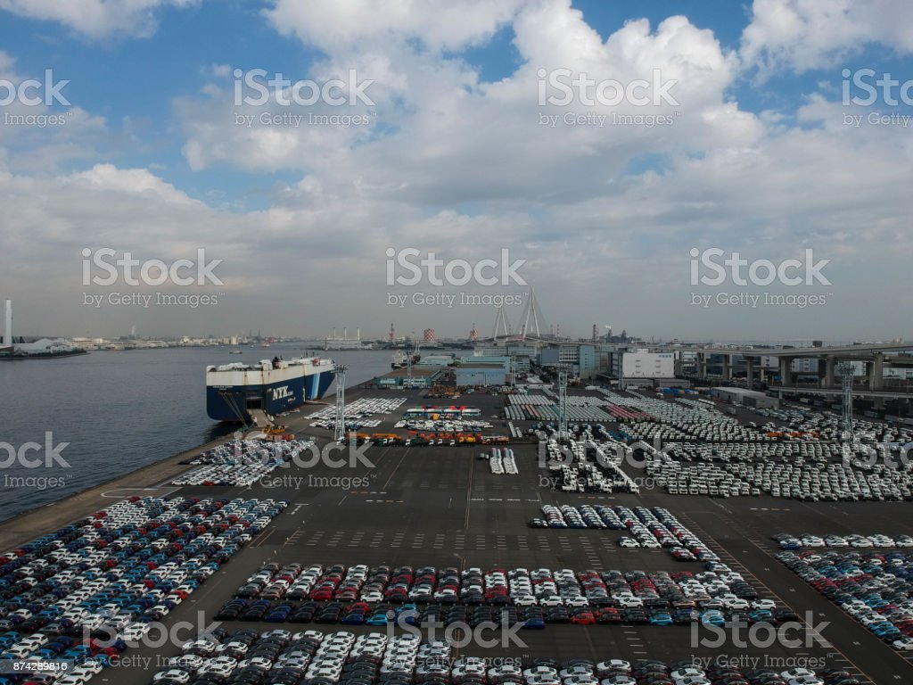 Trade is taking place in the port.