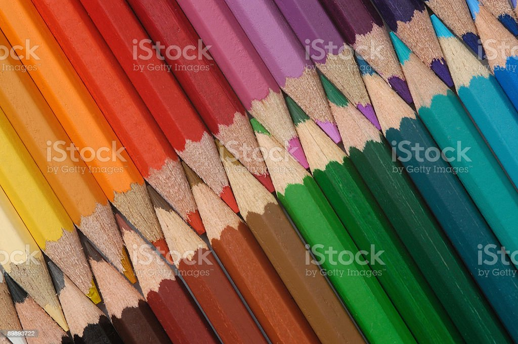 lot of colored pencils royalty-free stock photo