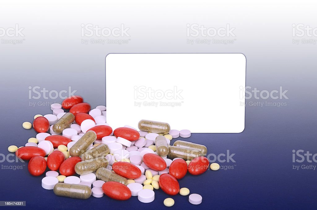 lot of colorful pills, space for text royalty-free stock photo