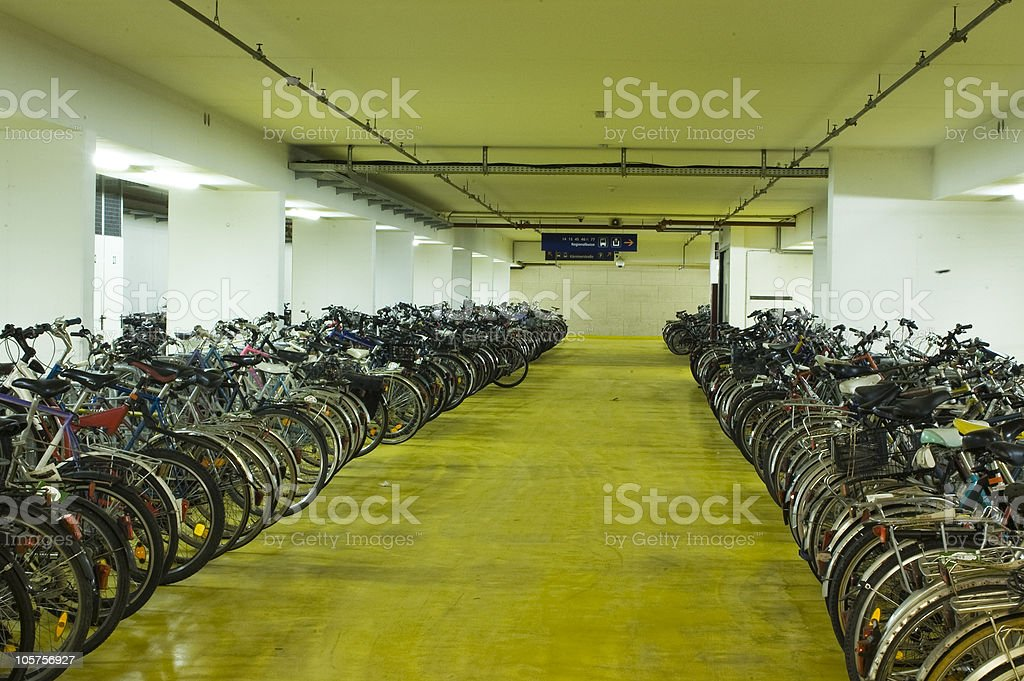 Lot of Cycles royalty-free stock photo