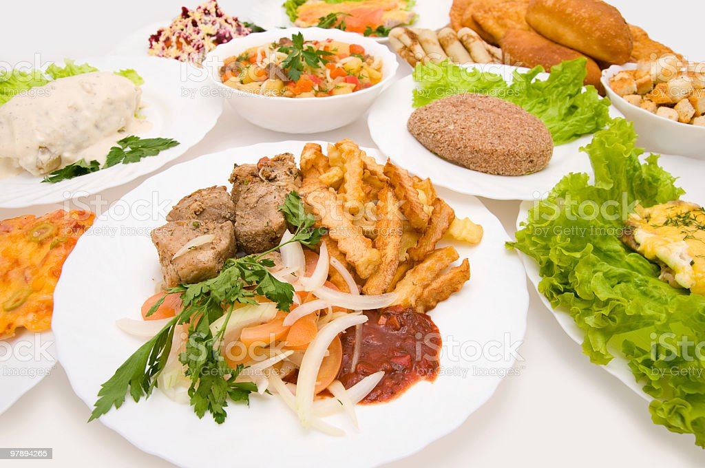 lot of dishes royalty-free stock photo