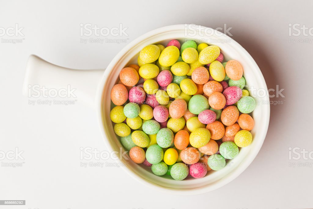 A lot of jelly beans in a sweet glaze stock photo