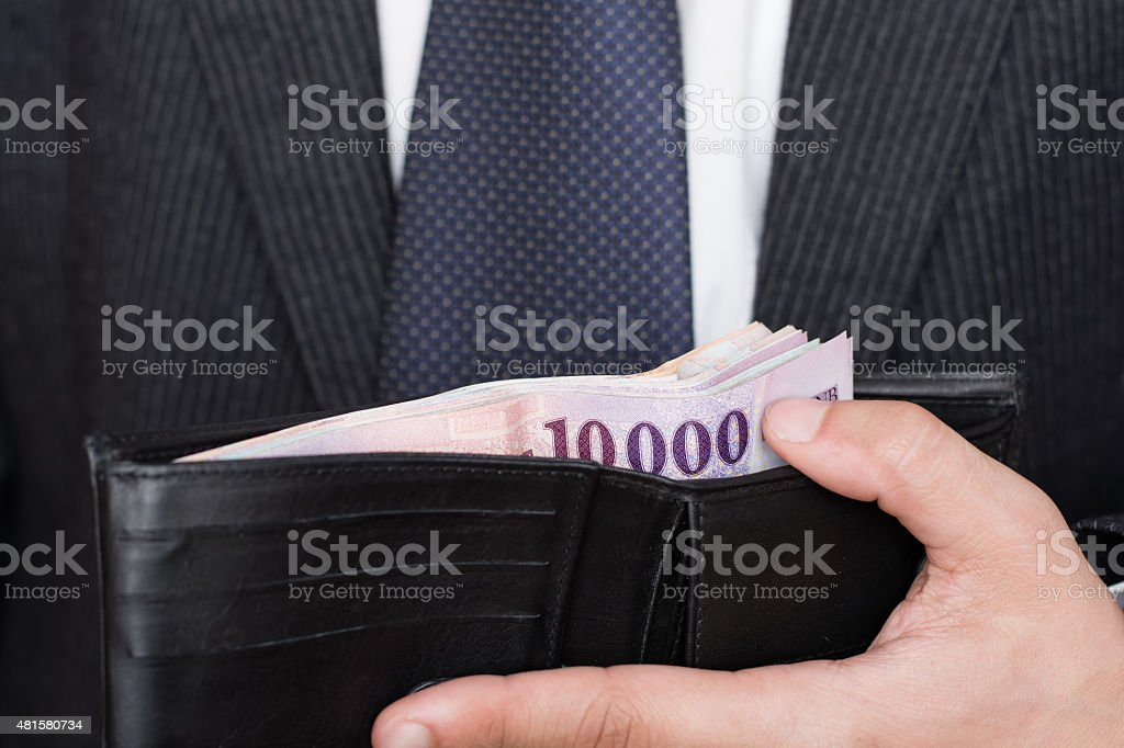 lot of money in the wallet