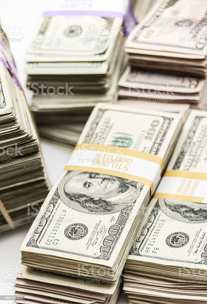 Lot of money royalty-free stock photo