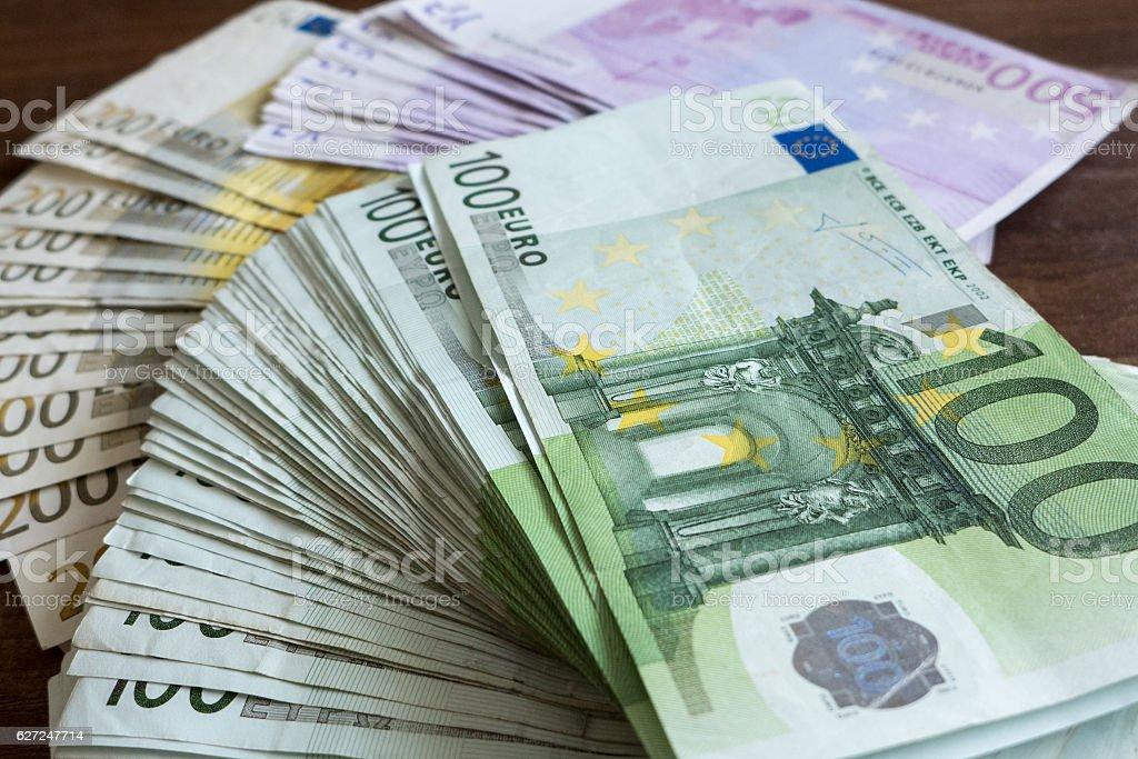 Lot of money stock photo