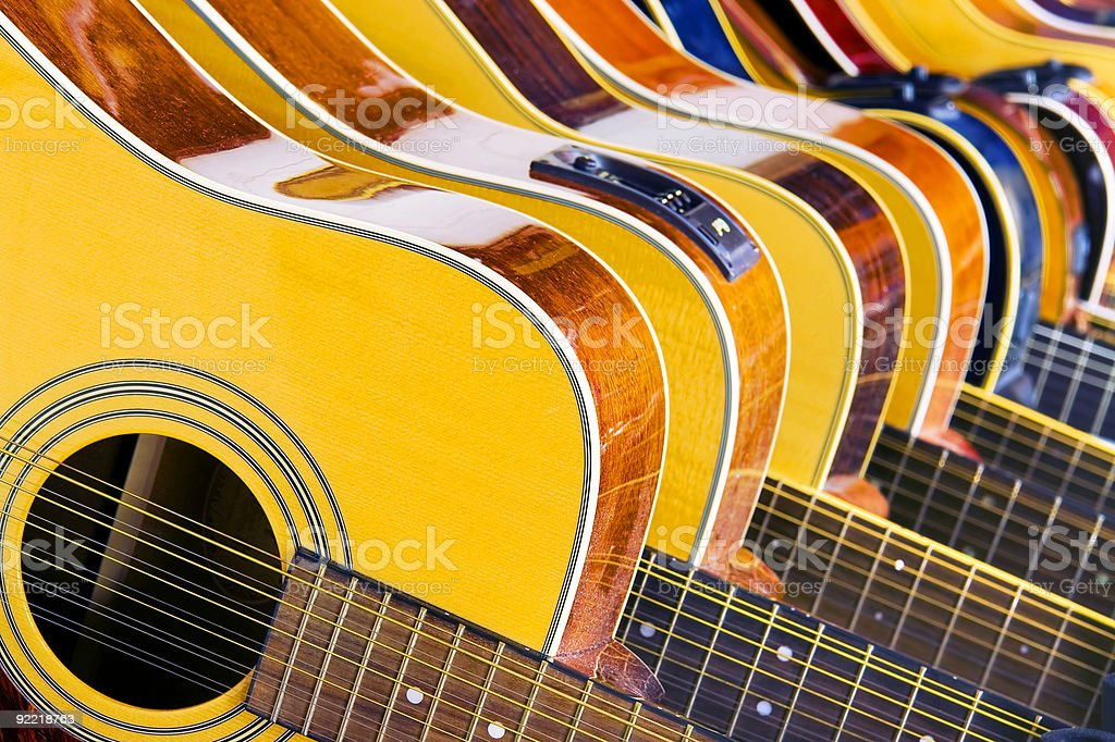 Lot Of Music stock photo