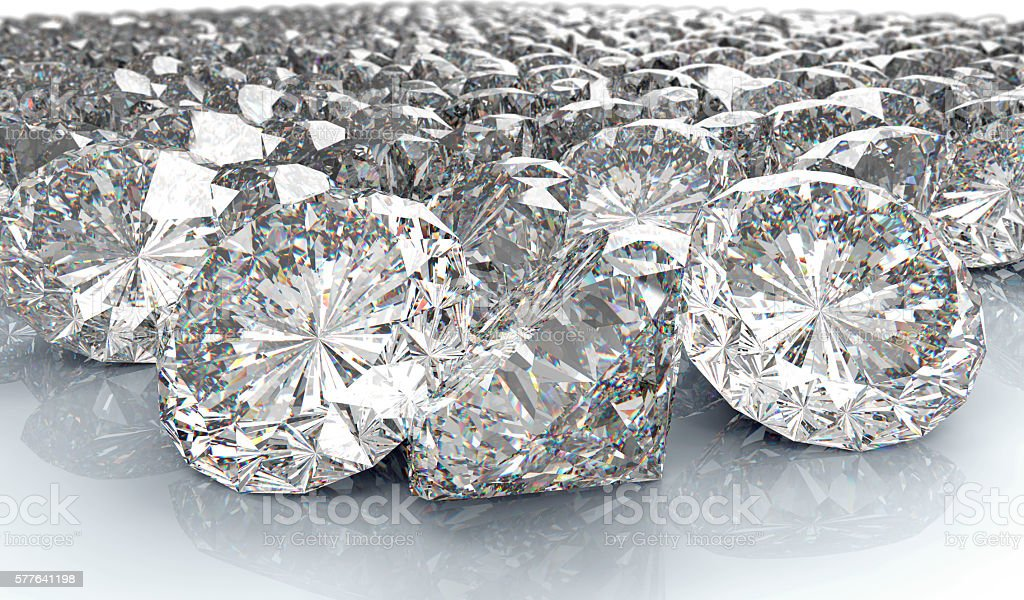 lot of perfect diamond isolated on white – Foto