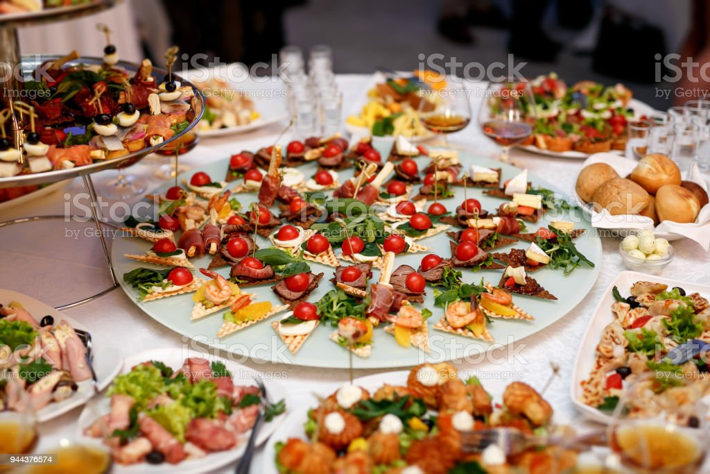 Viele Snacks auf Event-catering – Foto