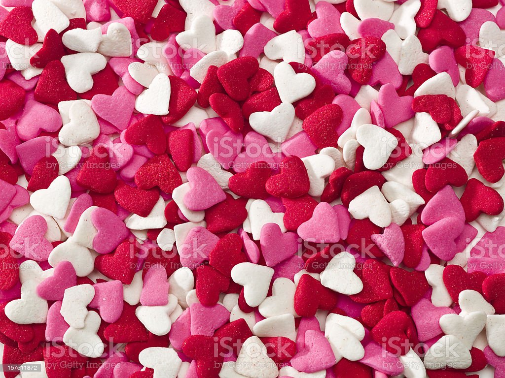 Lot of sprinkle hearts royalty-free stock photo