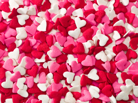 Lot of sprinkle hearts