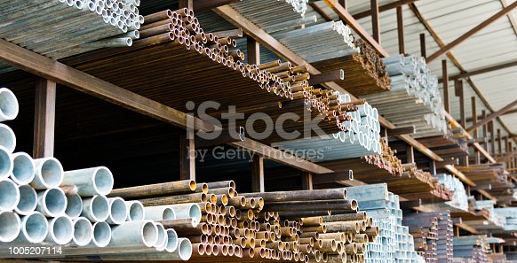 istock A lot of steel tubes on the rack 1005207114