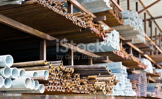 istock A lot of steel tubes on the rack 1128910994