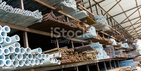 istock A lot of steel tubes on the rack 908686474