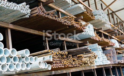 istock A lot of steel tubes on the rack 908686538