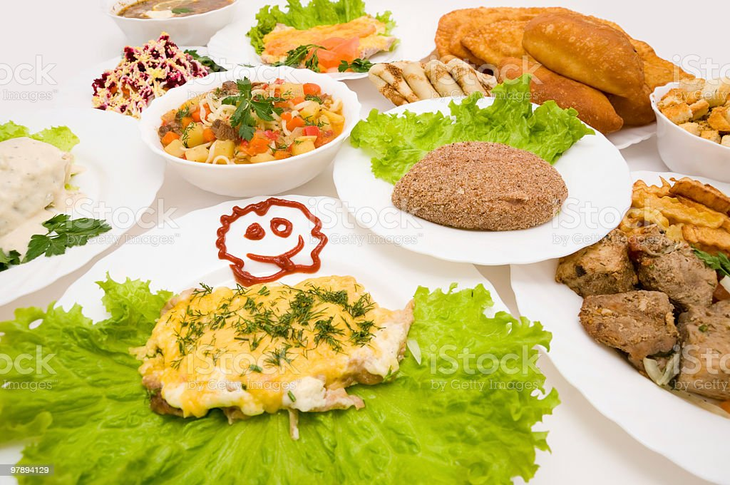 lot of various dishes royalty-free stock photo