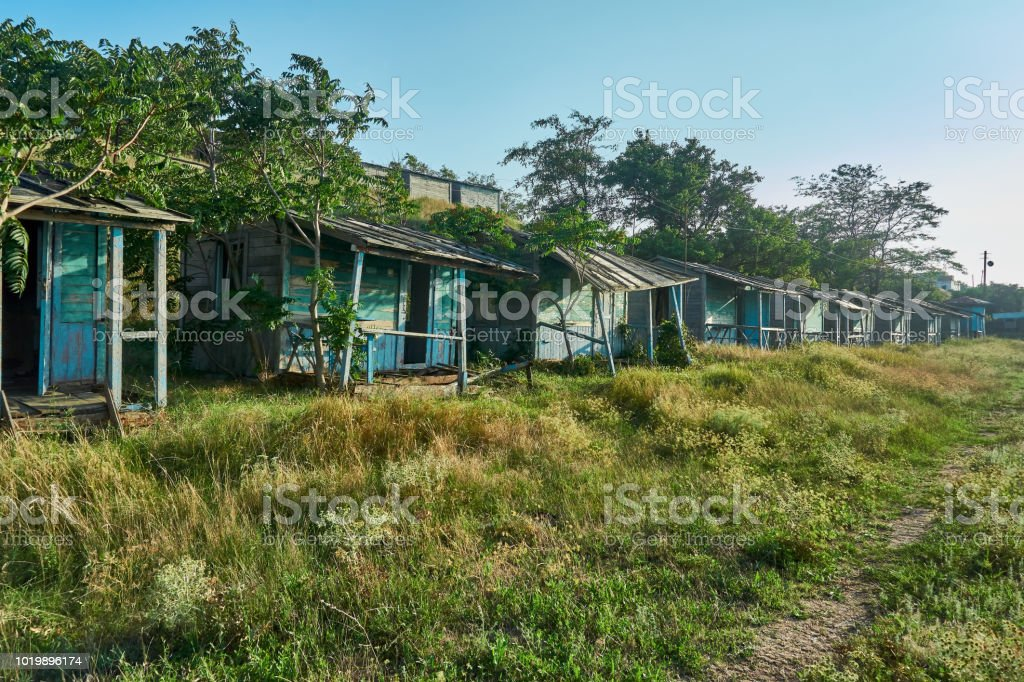 A Lot Of Wooden Abandoned Houses Are Intended For Leisure