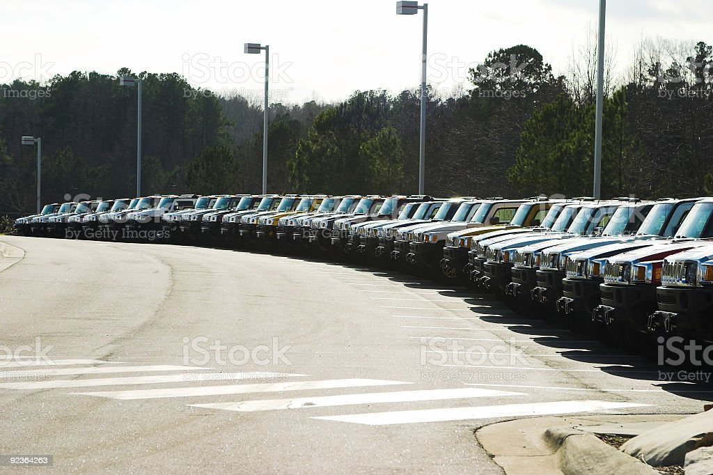 SUV Lot royalty-free stock photo